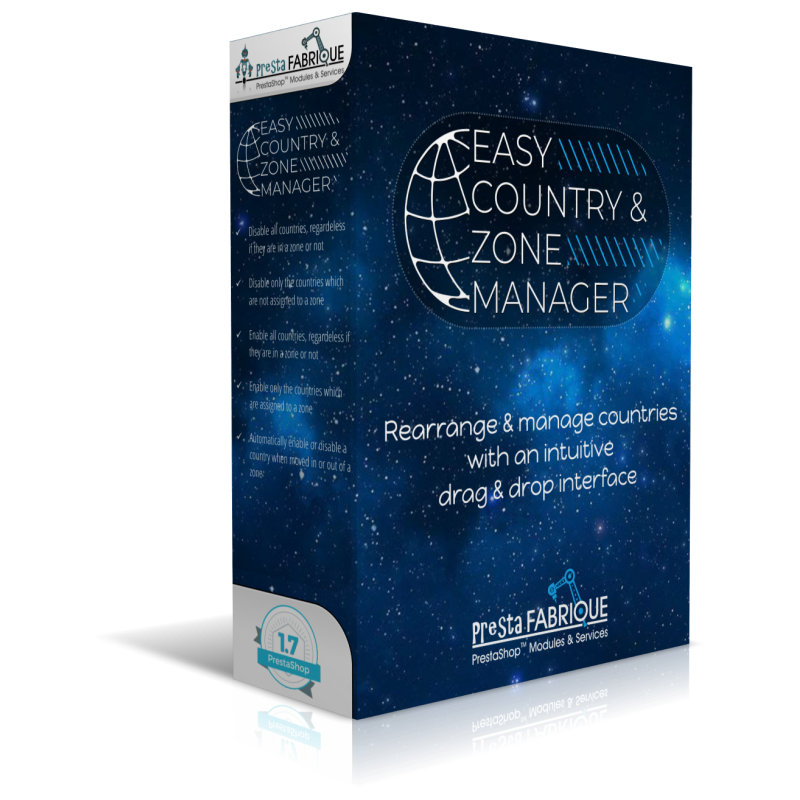 Easy country & zone manager