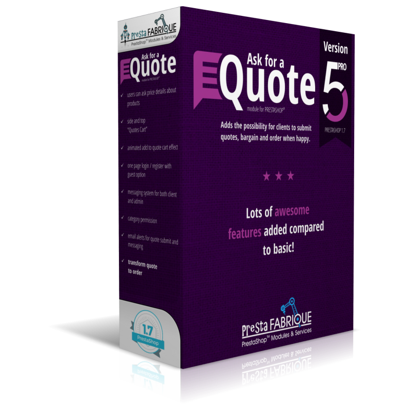 Ask for a Quote PRO module...