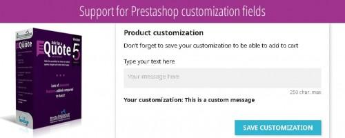 Support for Prestashop customization fields