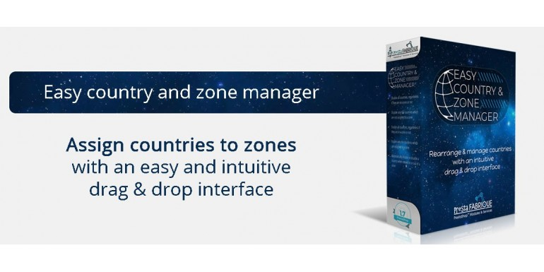 Easy country and zone manager - drag and drop Prestashop countries