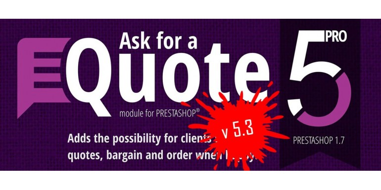 Major update for Ask for a quote 5 PRO